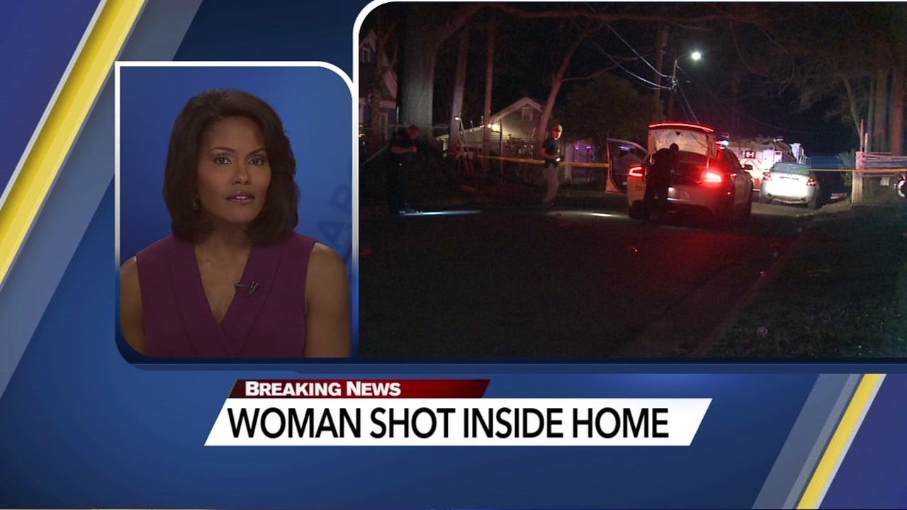 Durham police are investigating after they say a woman was hit by a stray bullet in her home.