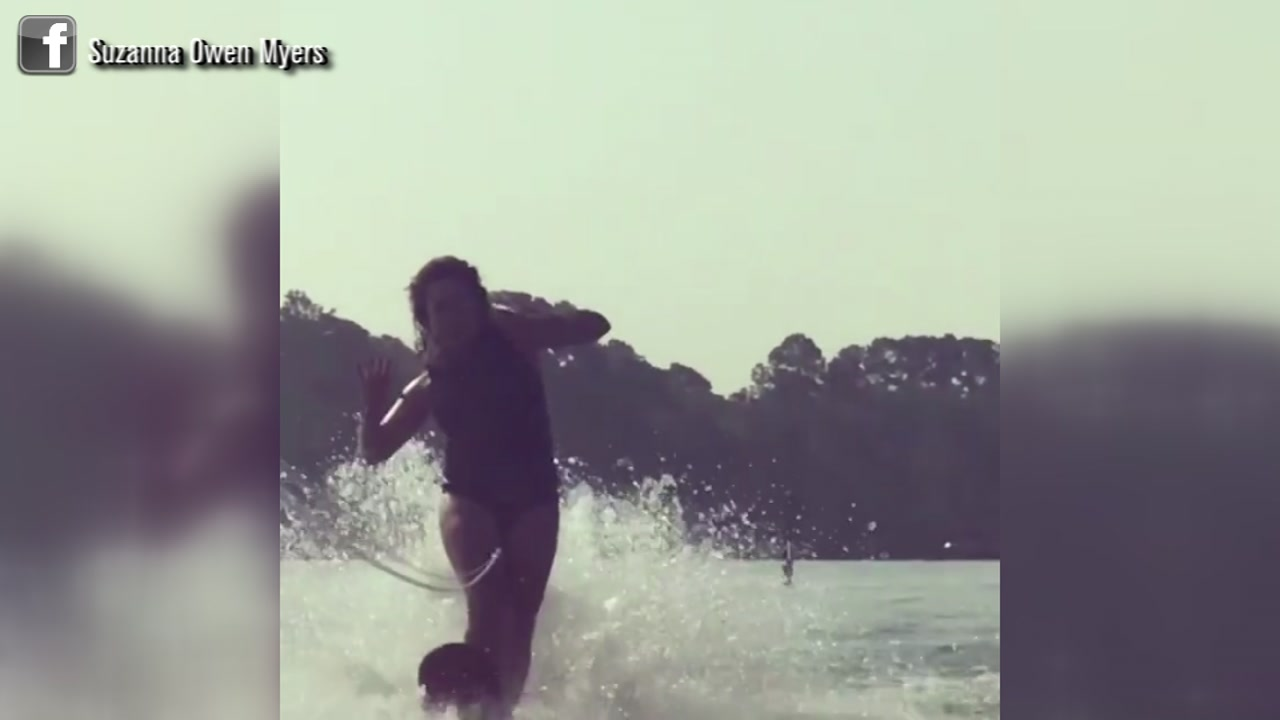 Wakeboarding mama pulls off impressive In My Feelings challenge