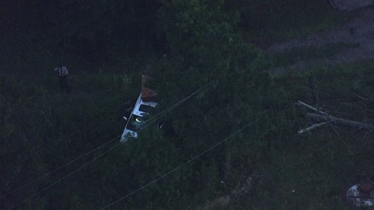 A woman will not be charged after a trooper said she knocked down power lines Tuesday morning in Johnston County.