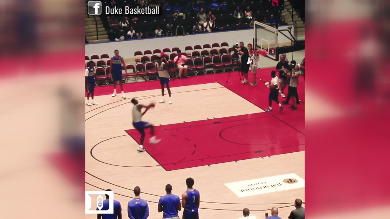 You wont beleive the dunk Zion Williamson pulled off during practice