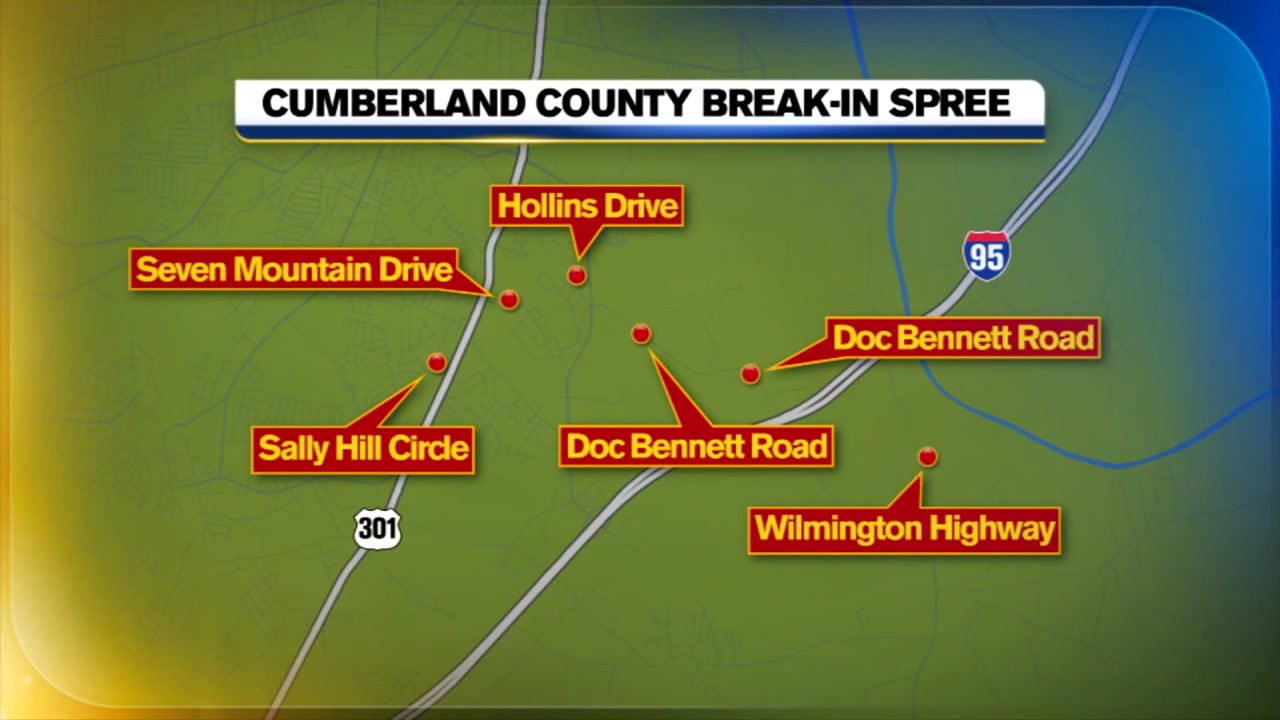 Cumberland County is experiencing a break-in spree.