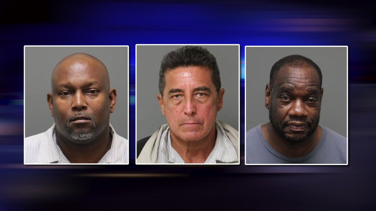 Three men charged with allegedly stealing numerous TVs from the Raleigh Marriott