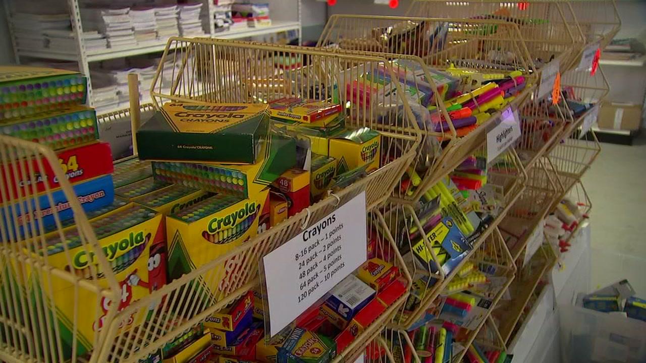Help kids in need of school supplies on Saturday.