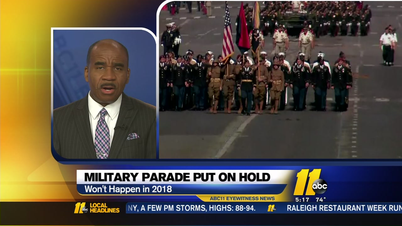 Trump says he cancelled military parade, citing the ridiculously high price tag