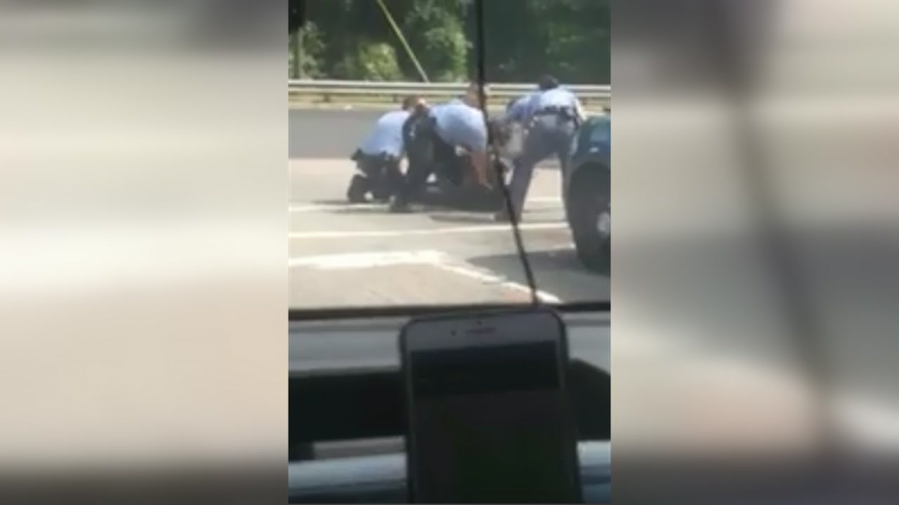 A cell phone video that surfaced on social media shows Raleigh officers repeatedly striking man with baton.