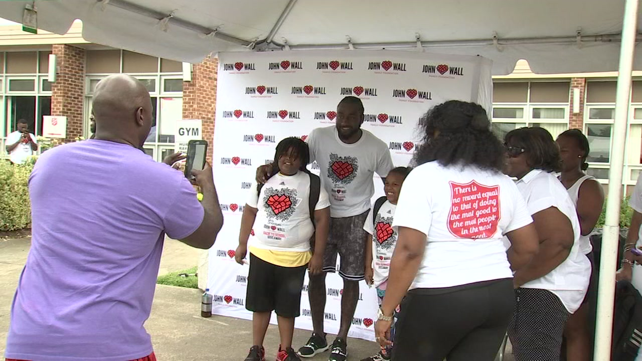 John Wall hosts 5th annual backpack giveaway