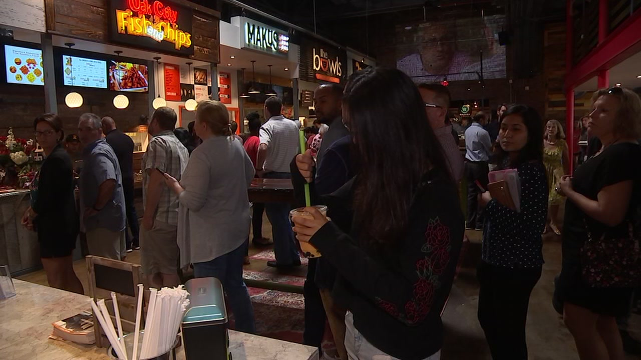 The Morgan Street Food Hall officially opened its doors Monday morning.