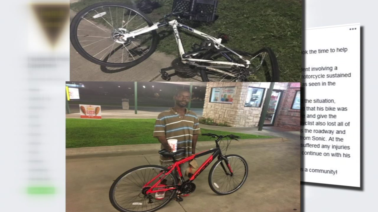 Good sam buys bike for man whose was damaged
