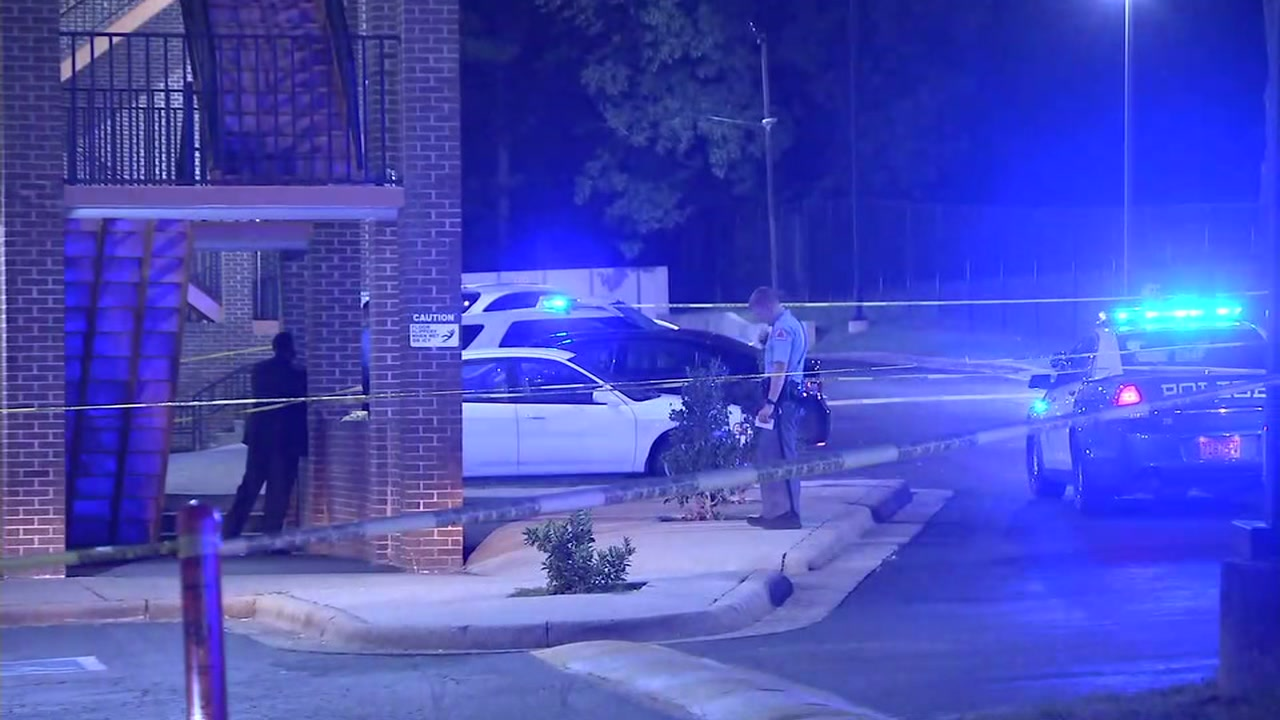 Two people were shot at a motel in Raleigh on Tuesday night.