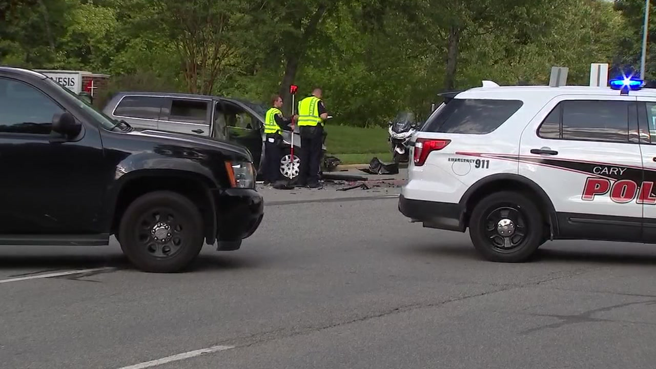 Serious crash closes High House Road in Cary on Wednesday.