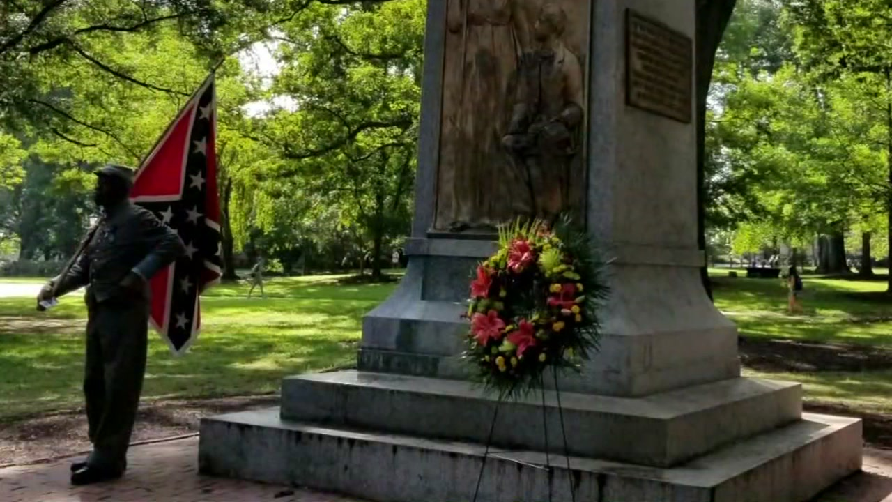 H.K. Edgerton drove more than 200 miles from Asheville to Chapel Hill to honor the fallen statue.