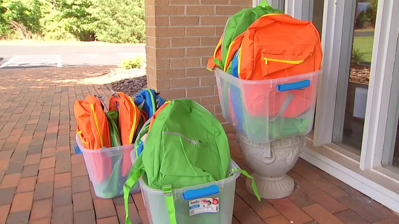 Churches hold backpack giveaways.