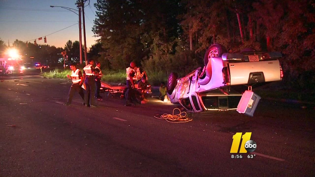 Car crash in Durham leaves nails spilled over the roadway