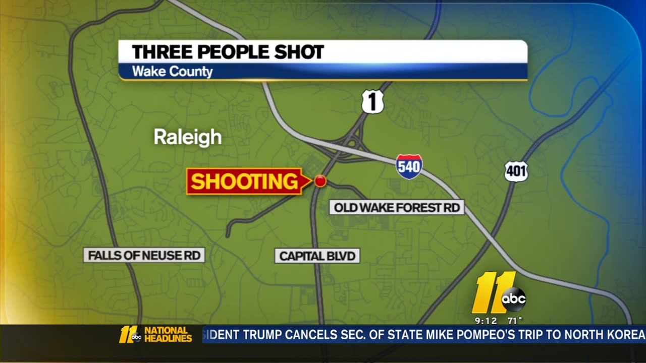 3 shot on Capital Blvd. in Raleigh on Saturday