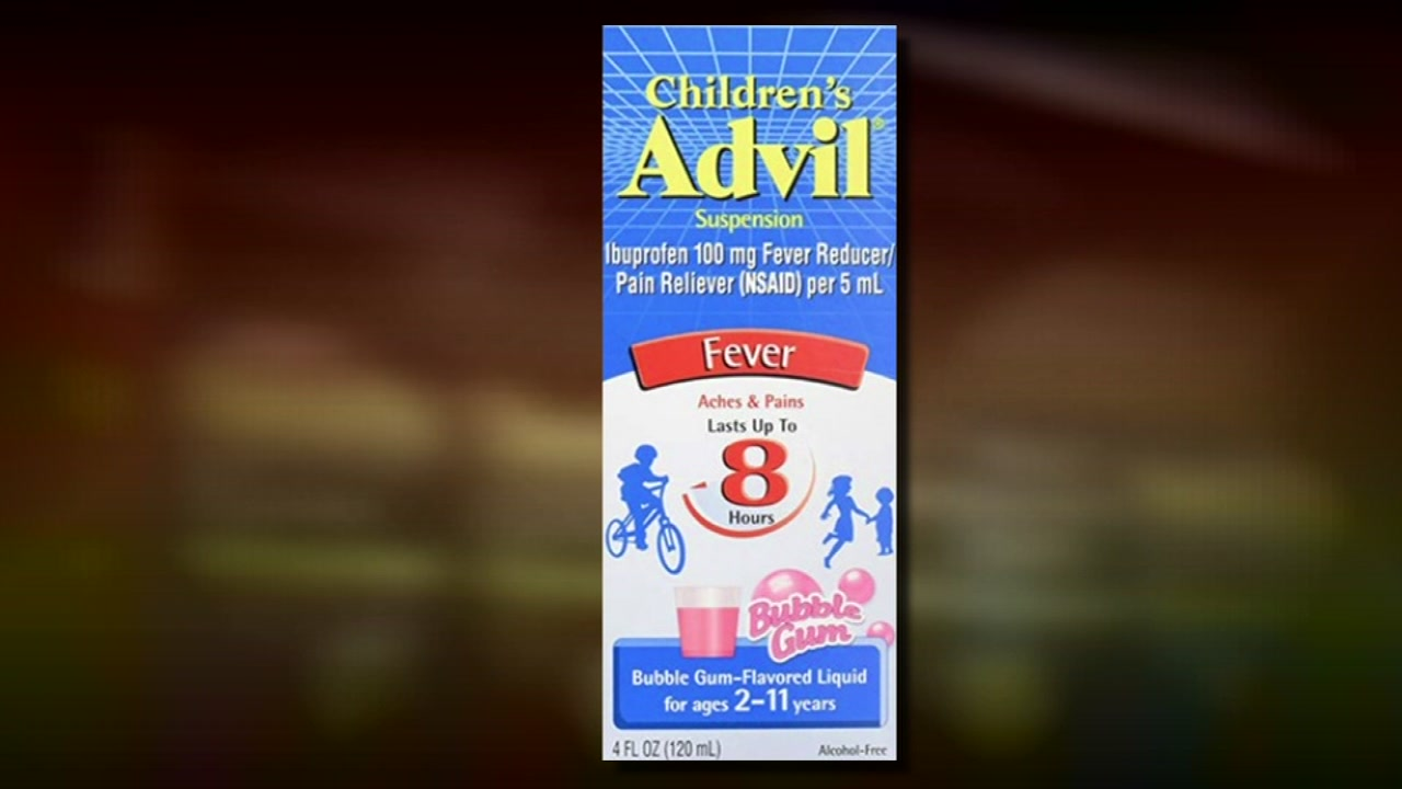 Recall for childrens Advil.