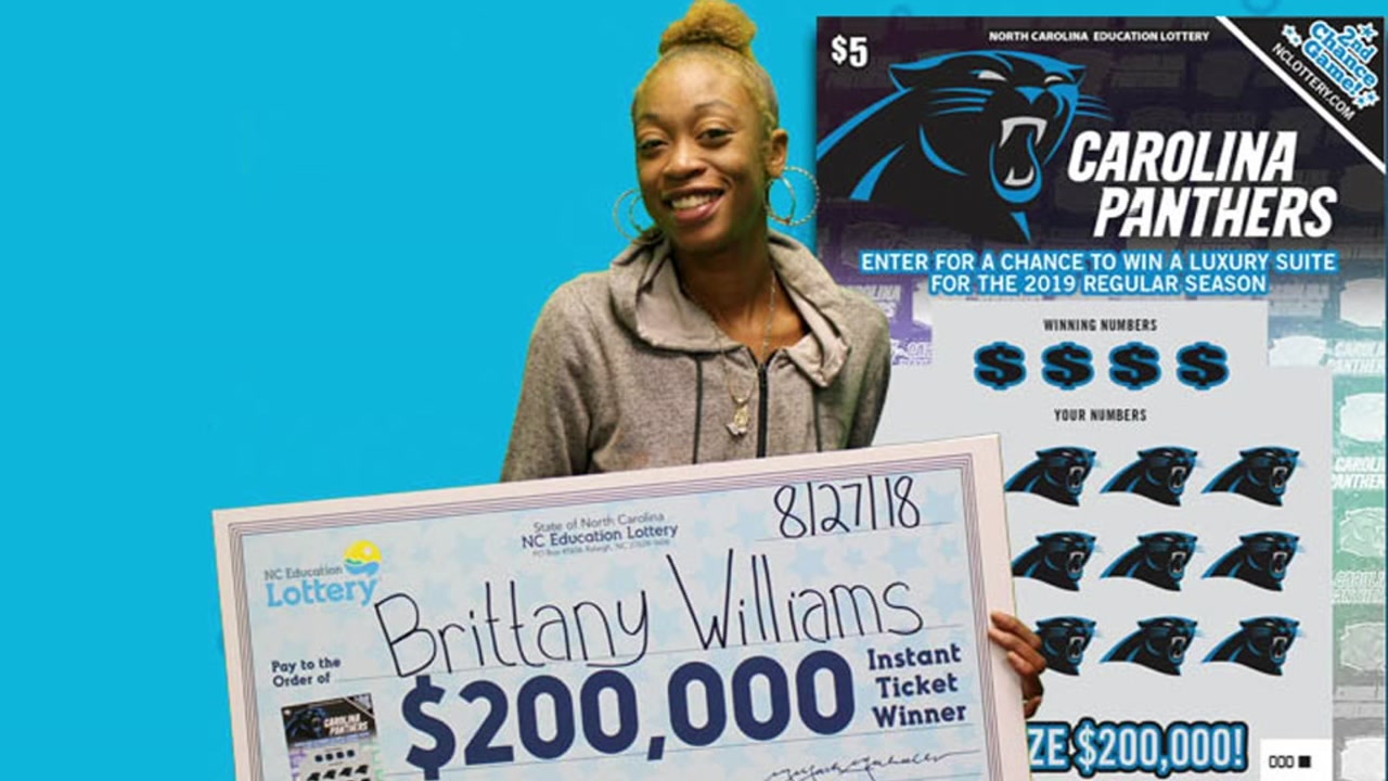 Fayetteville woman wins big with Carolina Panthers scratch-off ticket