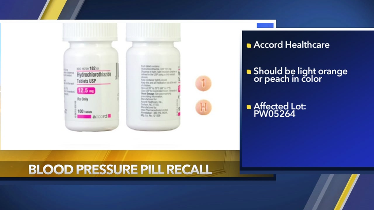 The FDA is alerting consumers to a voluntary recall of a widely used blood pressure medication.