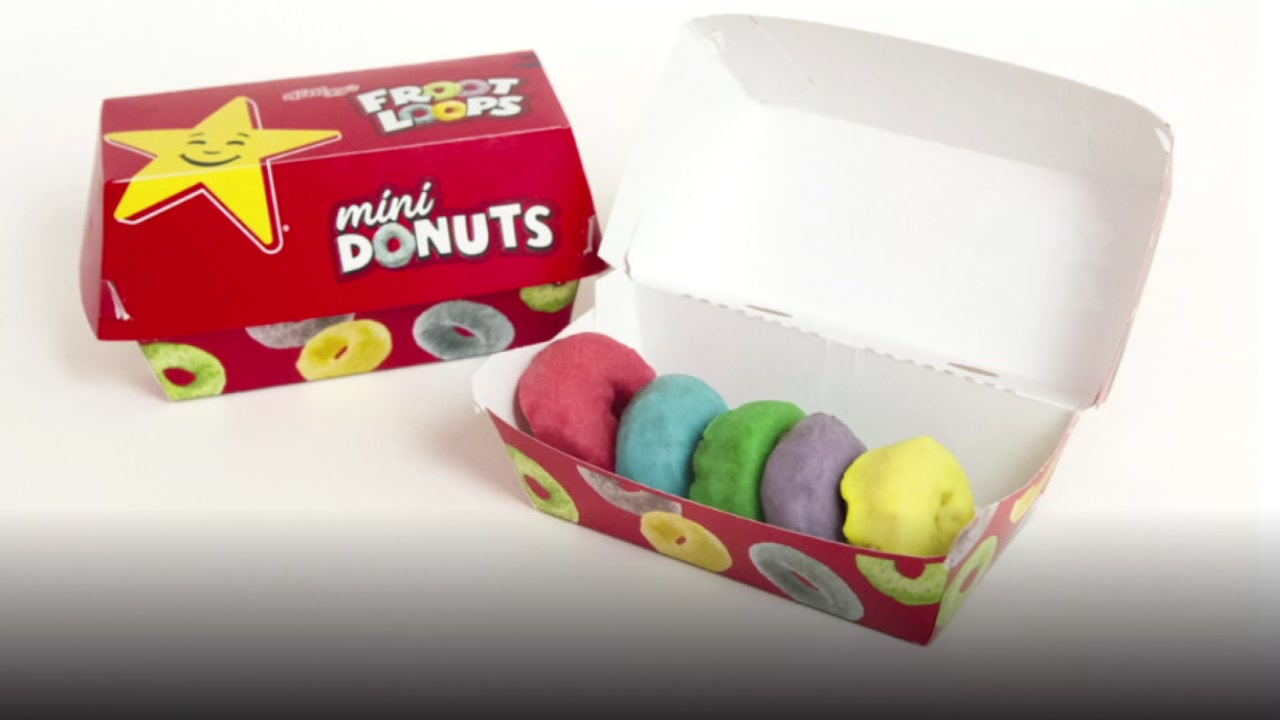 Hardees introduces new Froot Loop donuts