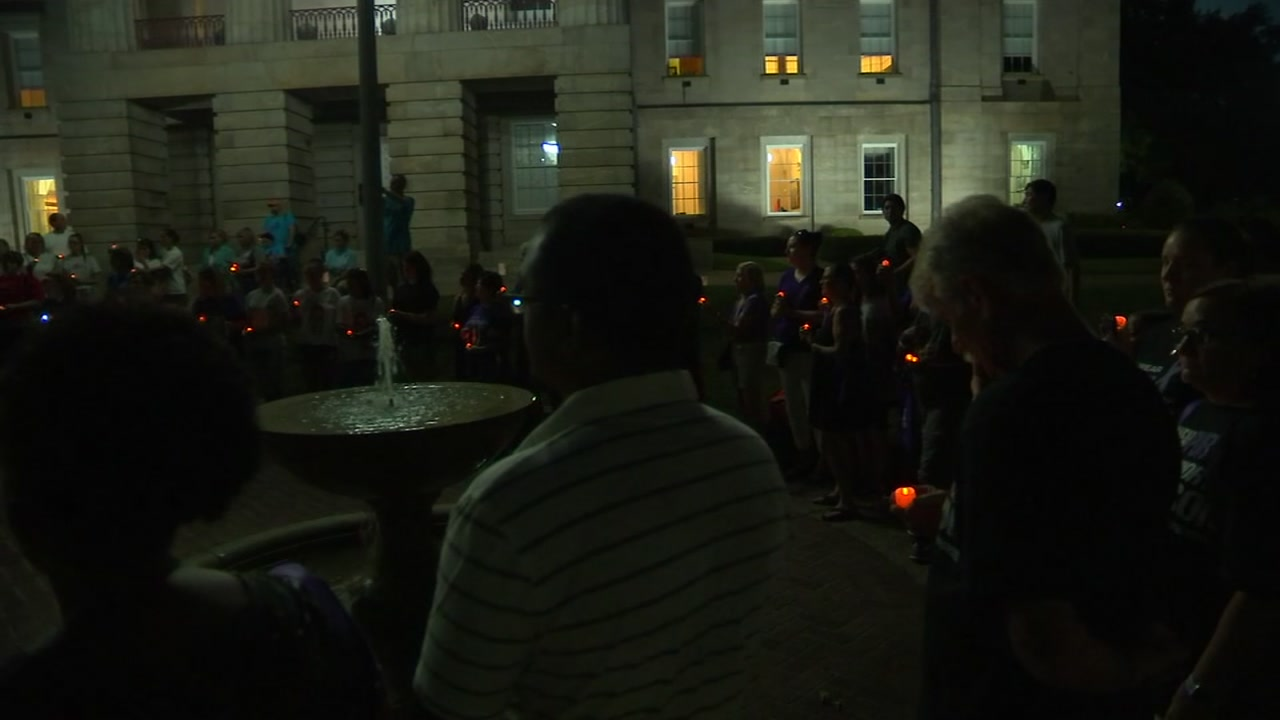 Their loss and grief was palpable as they marched to the Capitol Friday night.