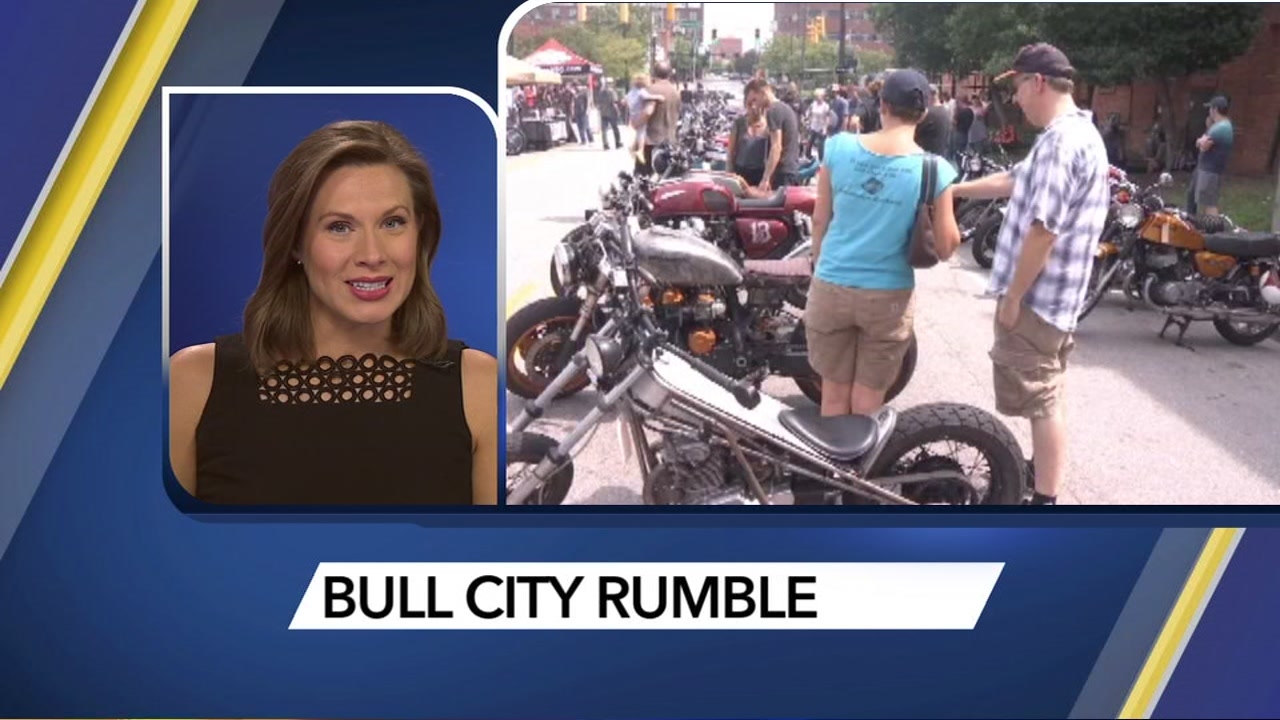 Motorcyles roll into Durham for Bull City Rumble