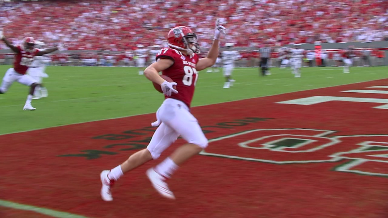 Former walk-on Thayer Thomas helps lead Wolfpack to victory