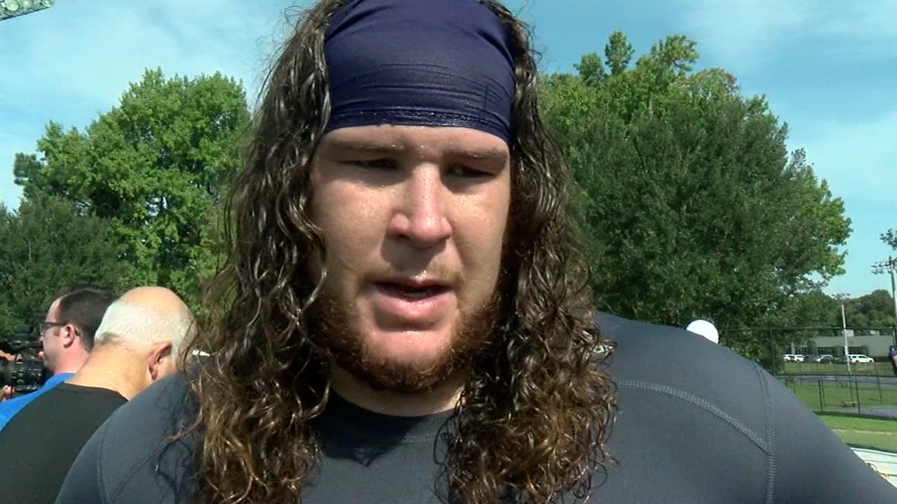 East Carolina senior offensive lineman Garrett McGhin made it clear how he feels about the Tar Heels.