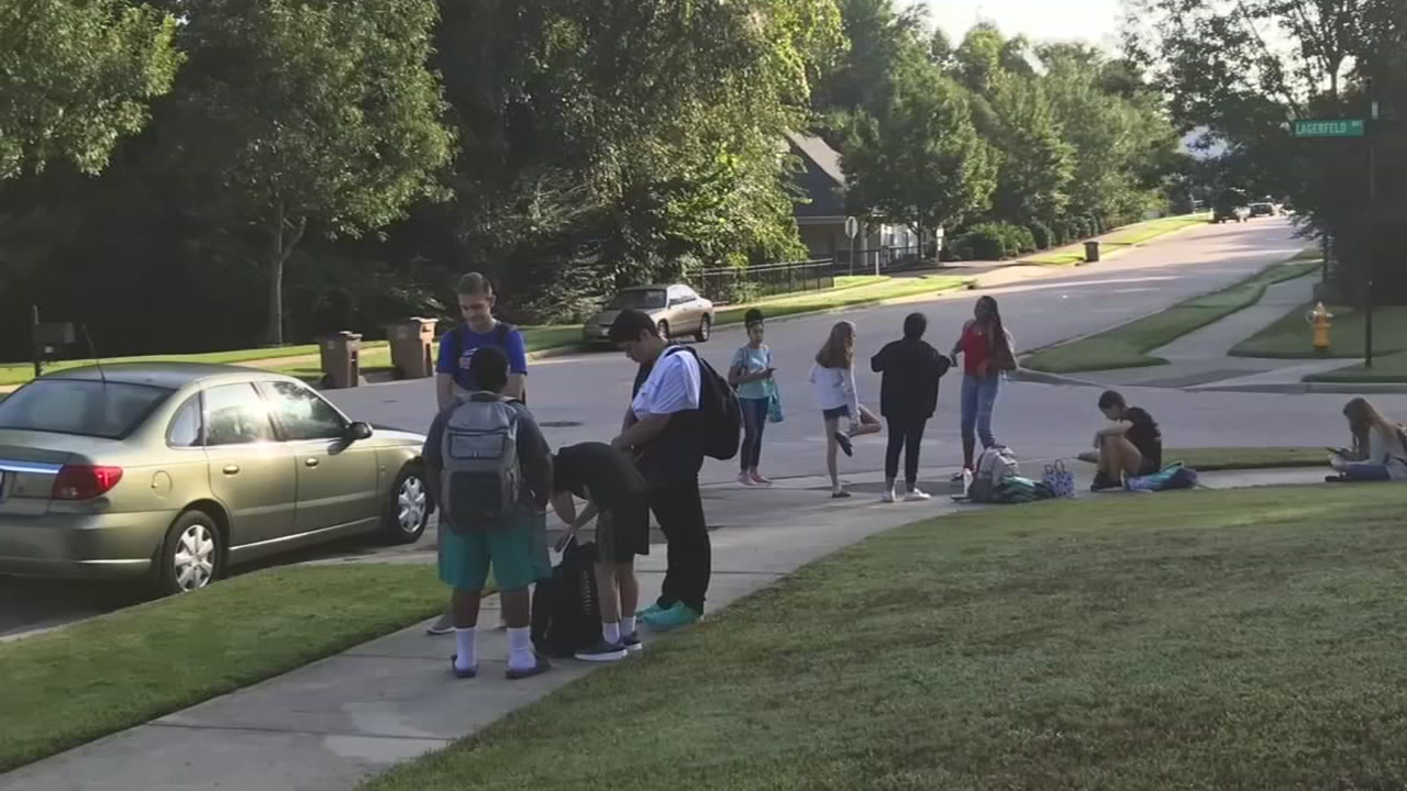 Several Wake County middle school students were left waiting at the bus stop for two hours.