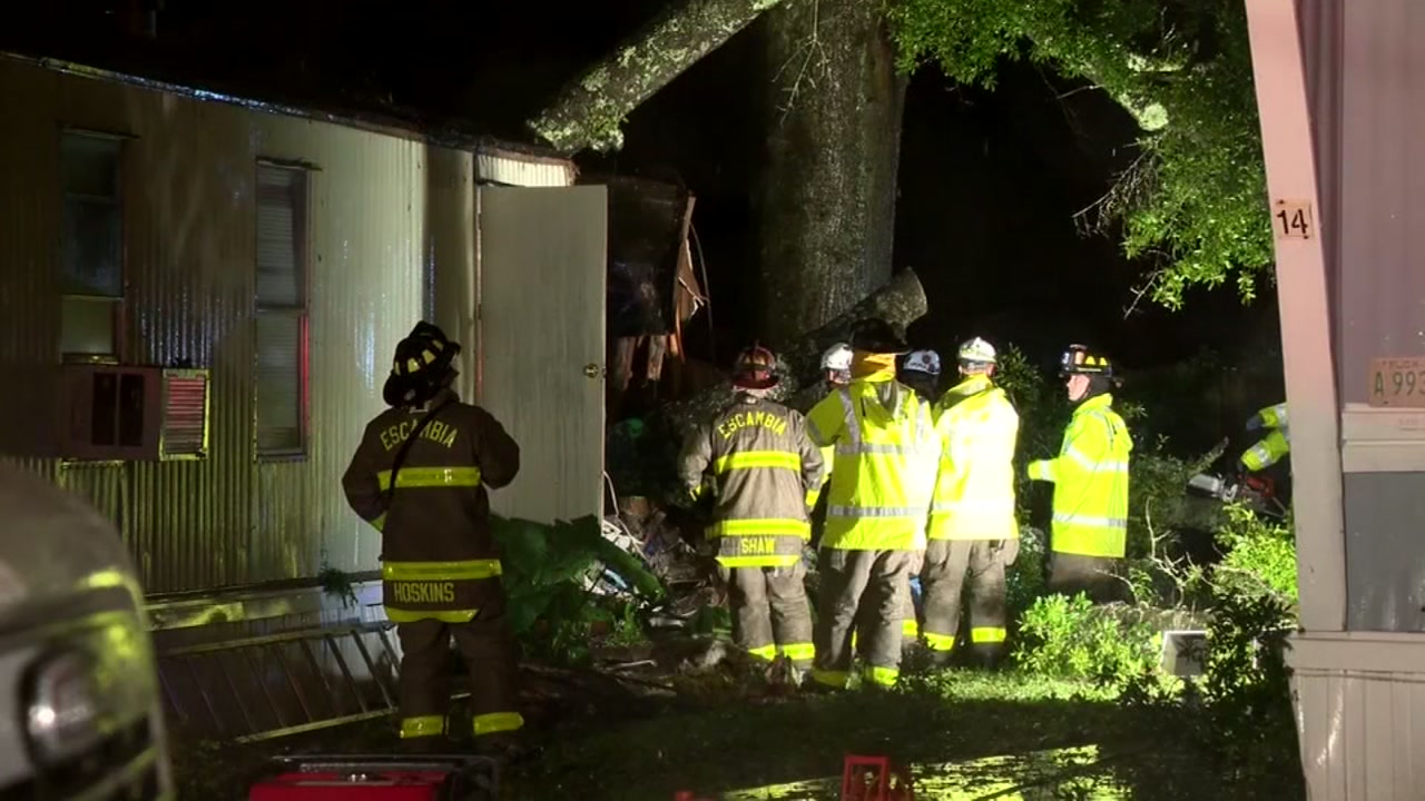 A child died when a tree fell onto a mobile home in Florida late Tuesday as Gordon made landfall.