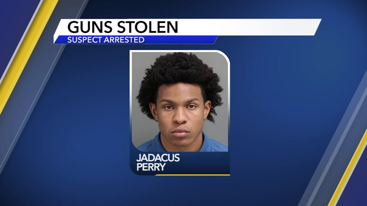 Jadacus Perry is facing charges in a June gun-store burglary.
