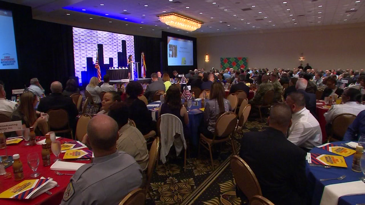 Hundreds of first responders from the Triangle were recognized for their hard work.