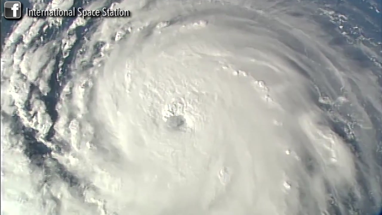 Aerial view of Hurricane Florence from the International Space Station