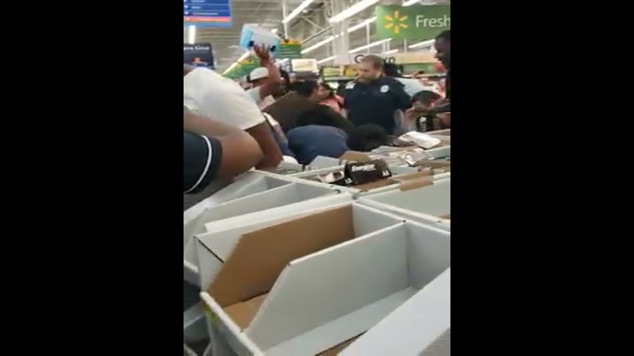 It was a chaotic scene at a Durham Walmart as people scrambled to get water and other supplies.