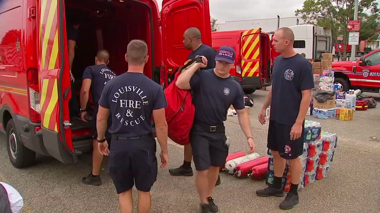 First responders from all over the country coming to assist in relief efforts