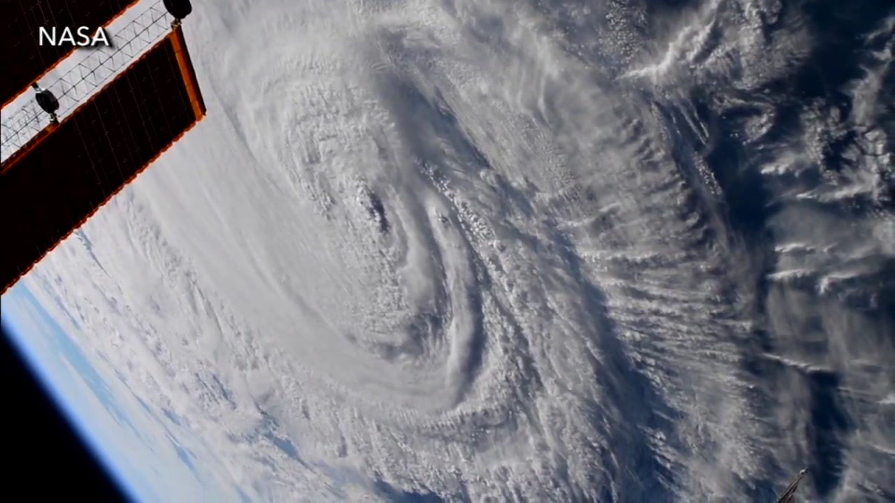 View from space as Hurricane Florence makes landfall