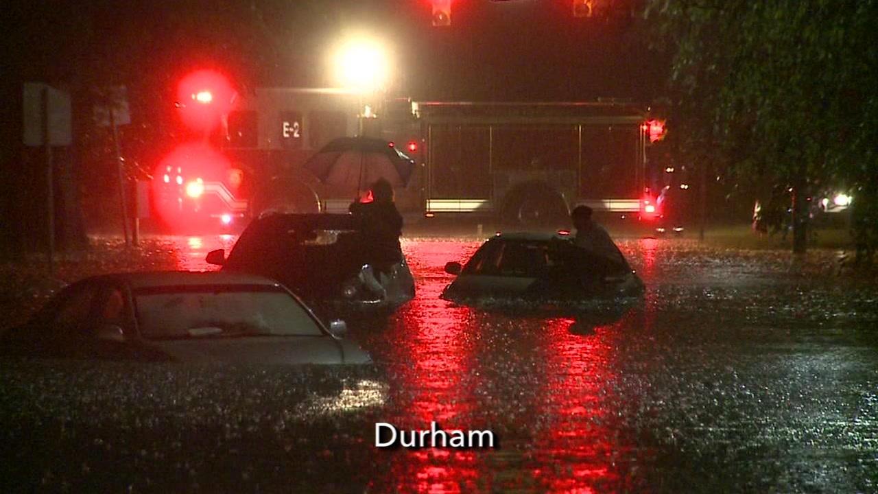 Heavy rains bring flooding throughout Durham