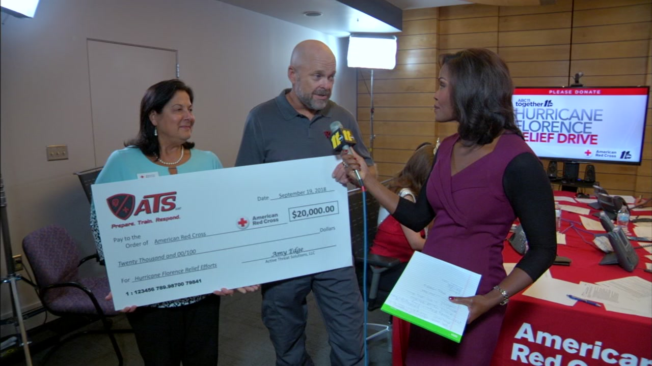 On Tuesday ABC11 Together partnered with the Red Cross for the Hurricane Florence Relief Drive.
