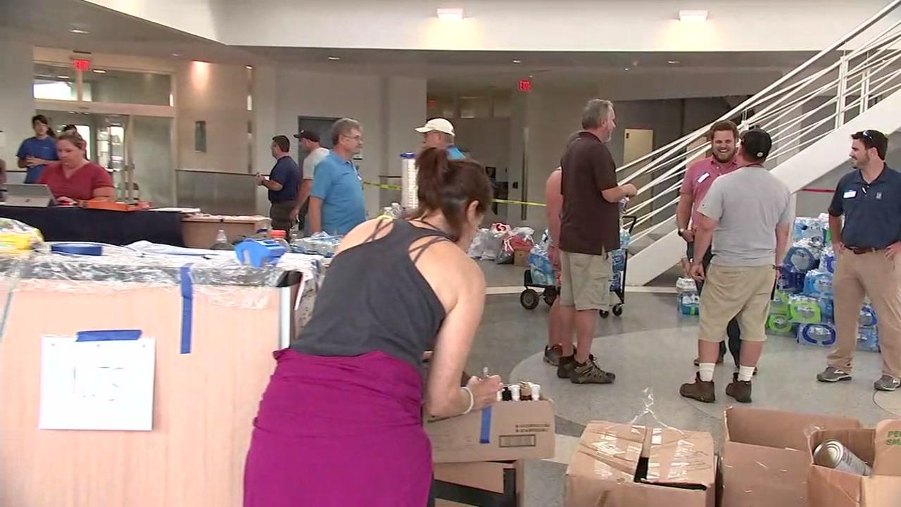 Dozens of volunteers helped with Operation Airdrop.