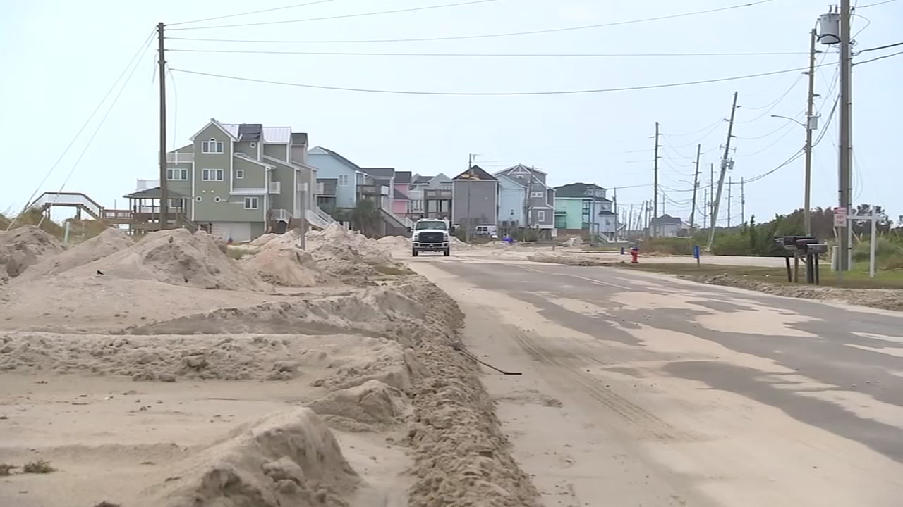 Residents of Topsail Beach finally return home to assess the damage.