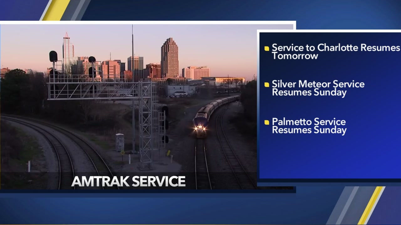 NC Amtrak resumes normal service after Florence