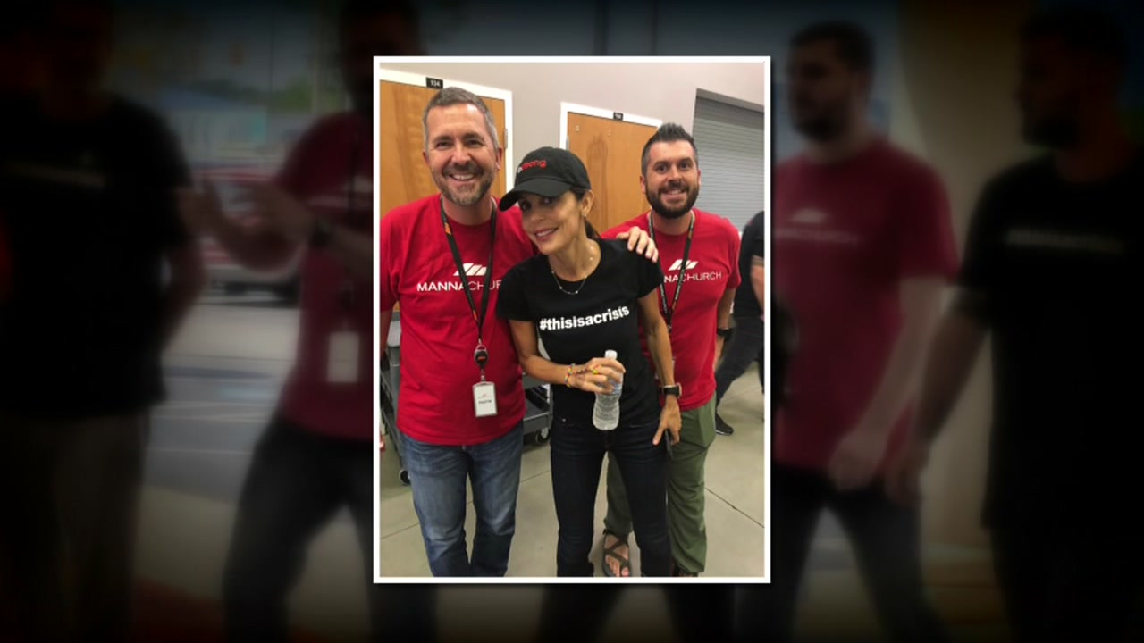 Bethenny Frankel flew to Fayetteville on Wednesday afternoon to distribute supplies to Florence victims in the Carolinas.