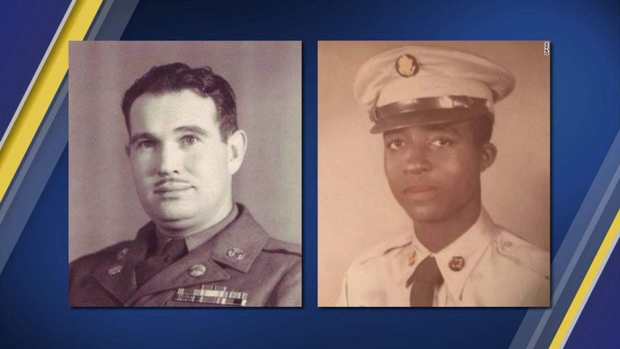 The military has identified the men as Sgt. Charles McDaniel, left, and Pfc. William H. Jones.