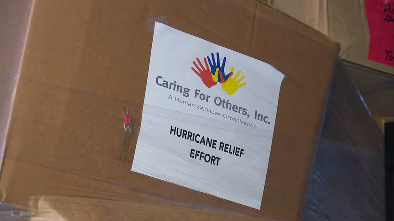 The Convoy of Care arrives in Fayetteville to offer relief to Florence victims.