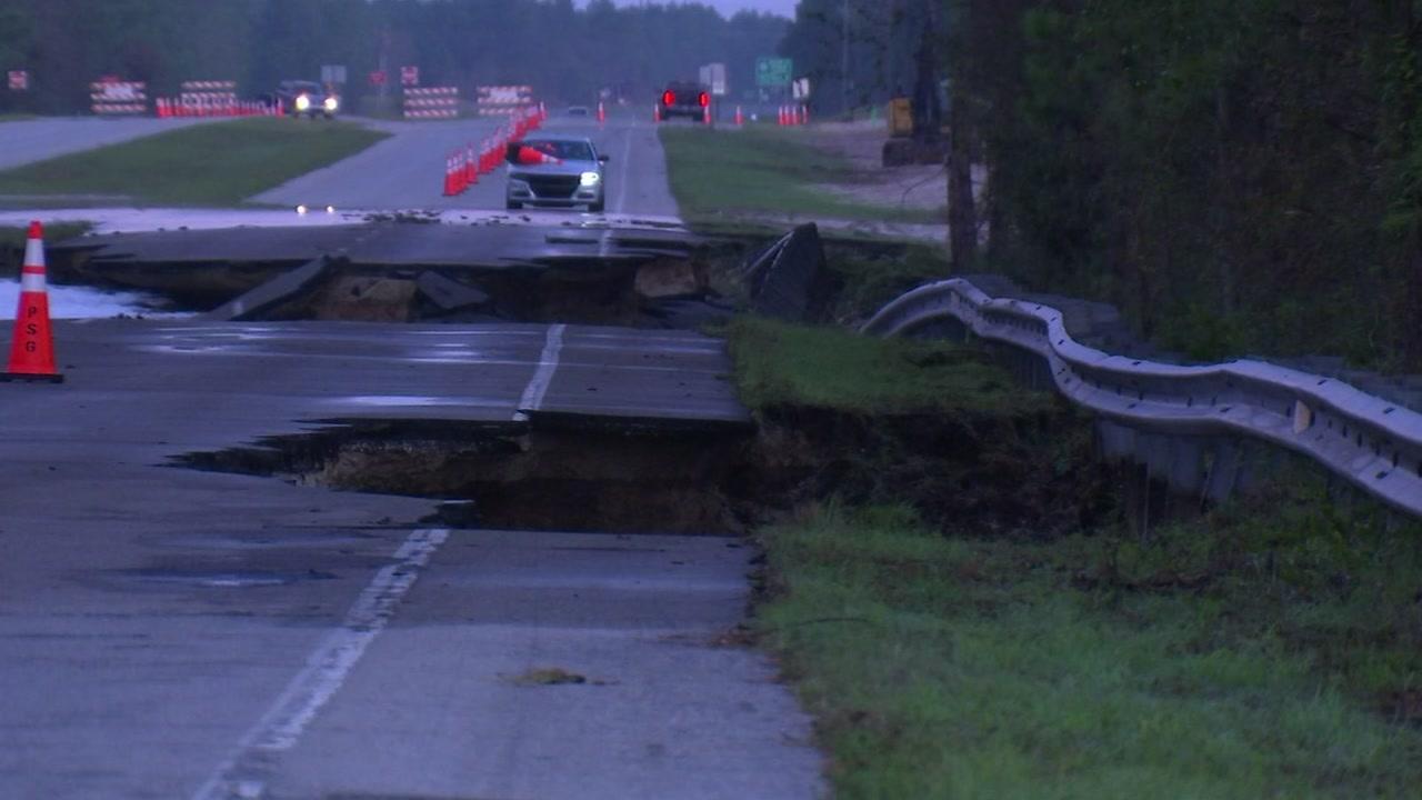 Florence flooding: US 421 near Wilmington now impassable.