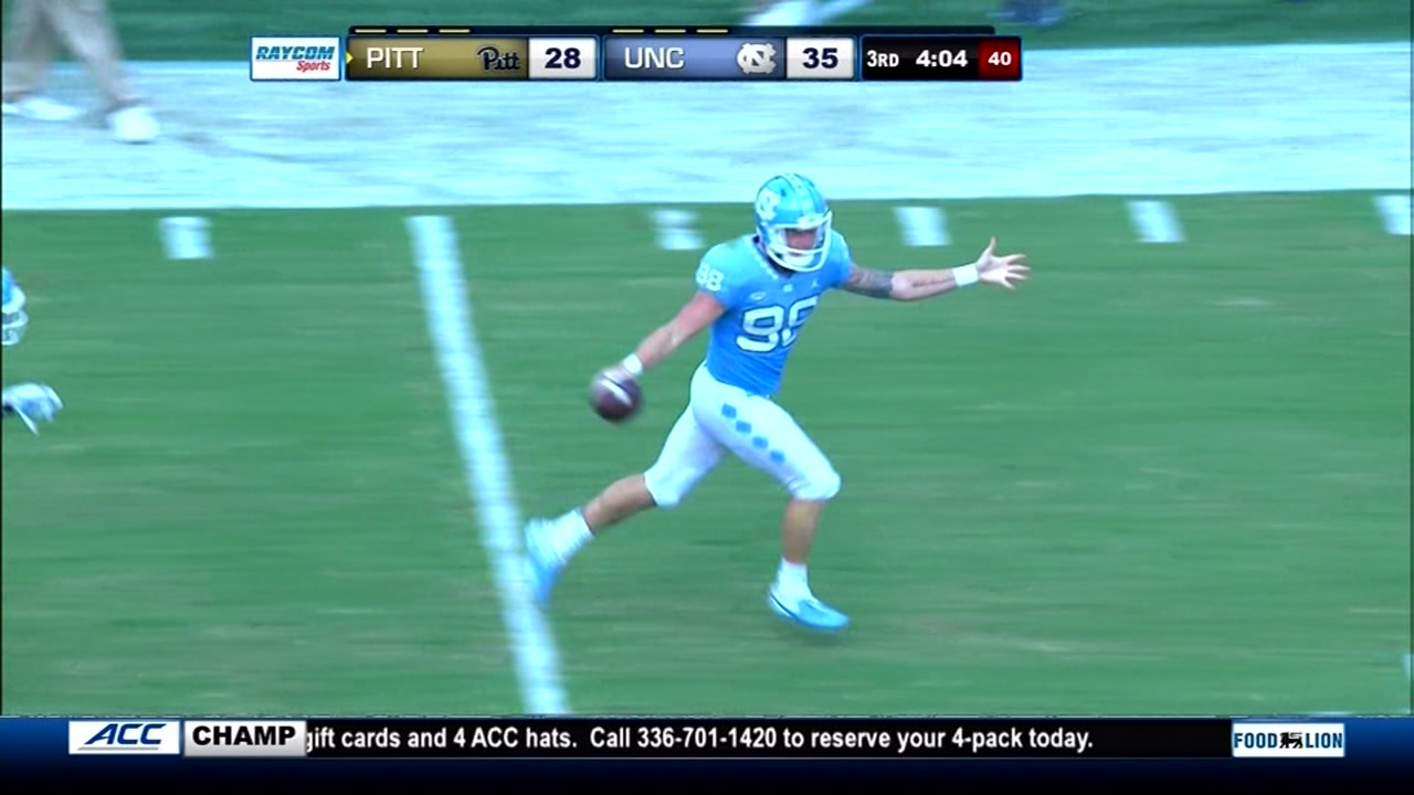 North Carolina beats Pittsburgh 38-35 in its ACC opener