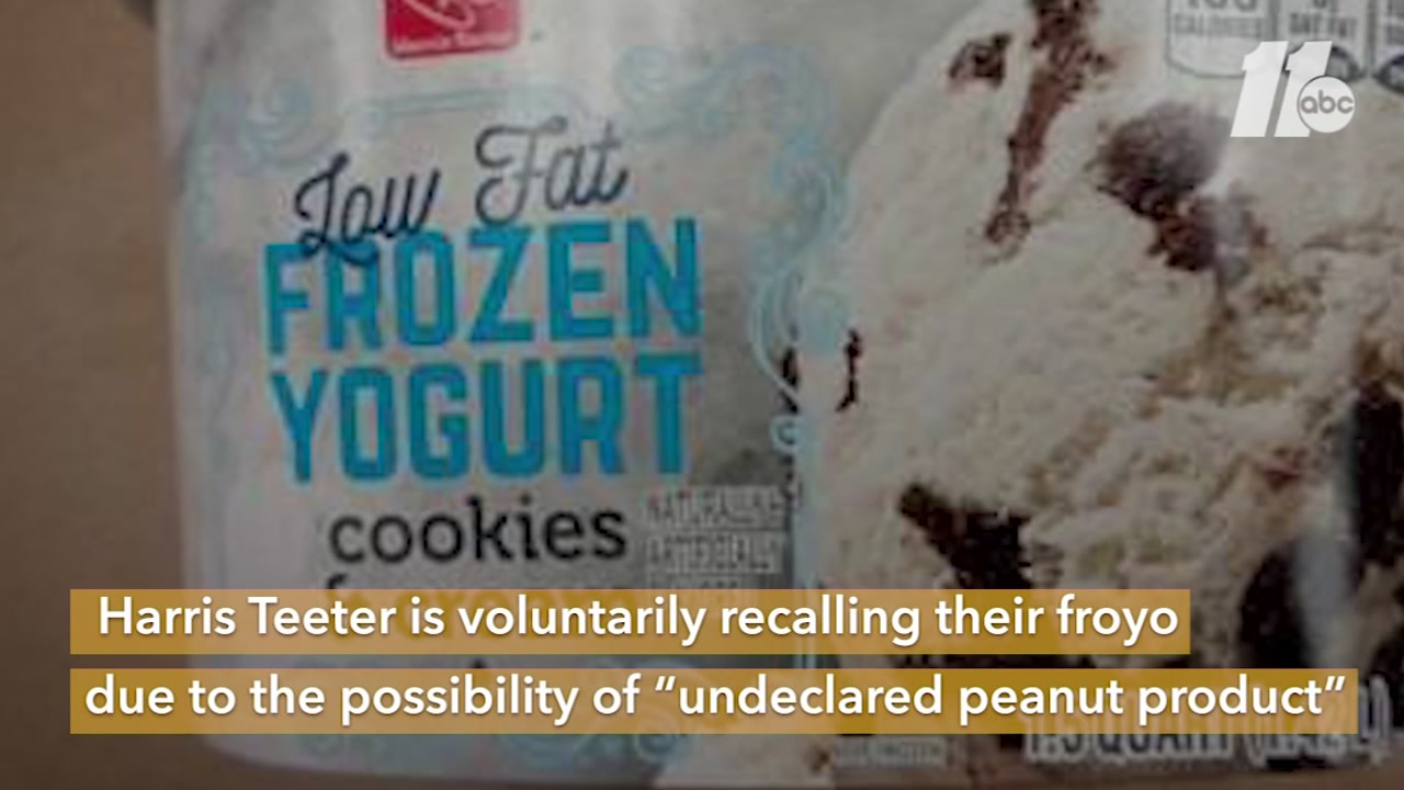 The frozen yogurt was sold in multiple states, including North Carolina.