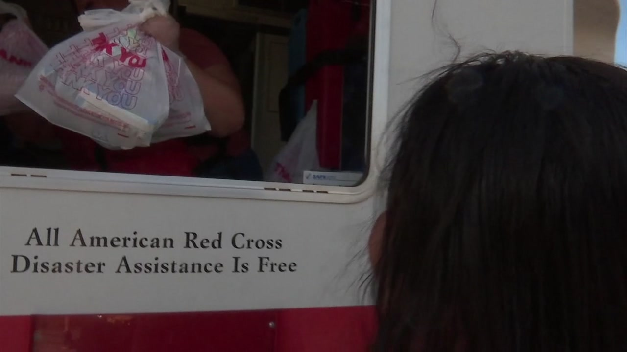 Red Cross visits Robeson County with mobile feeding unit.
