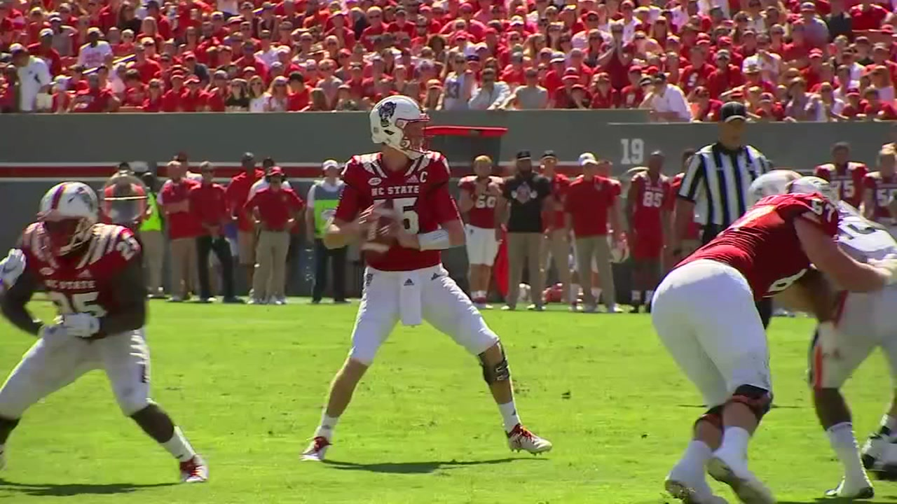 Person, WRs help NC State top Virginia 35-21 in ACC opener