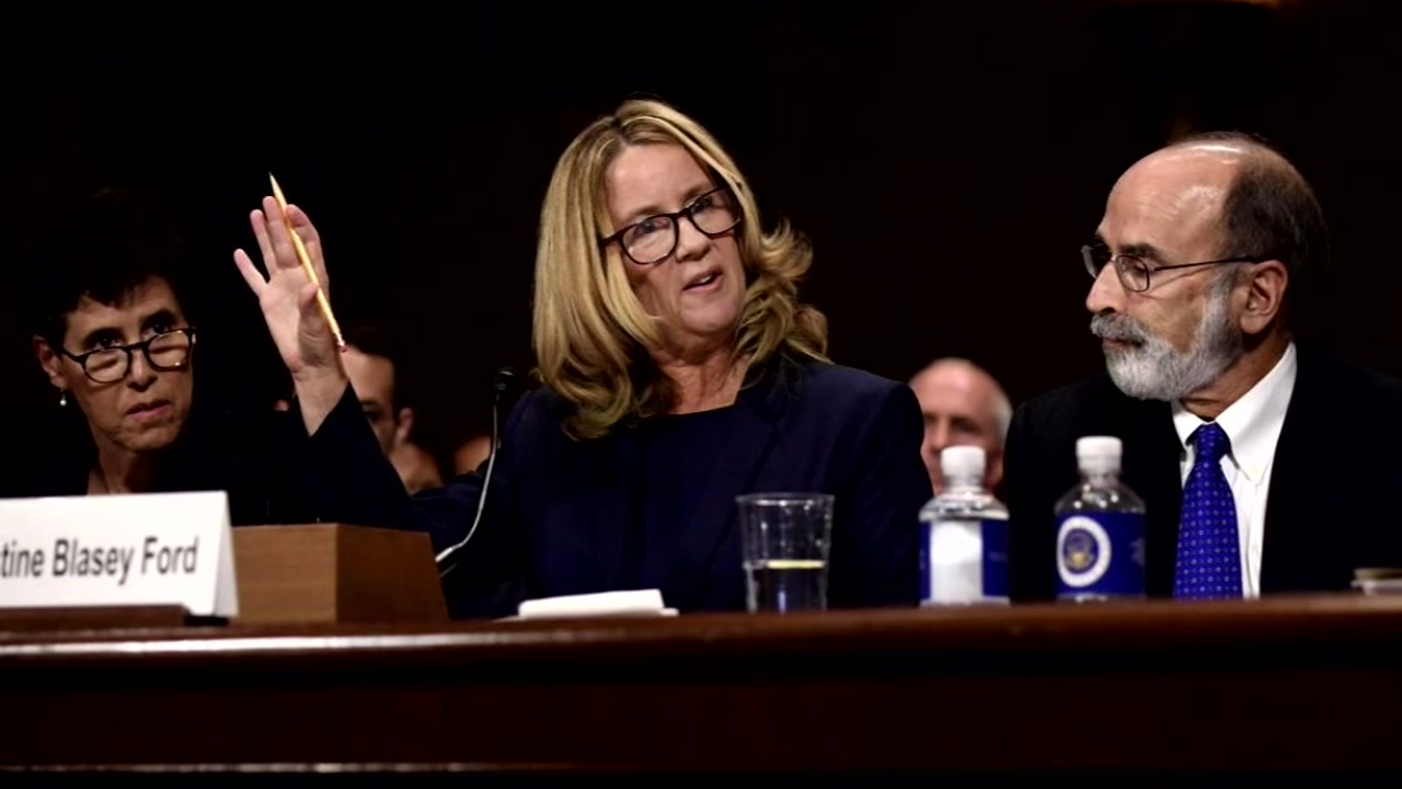 Surge in crisis line calls since Ford testimony.