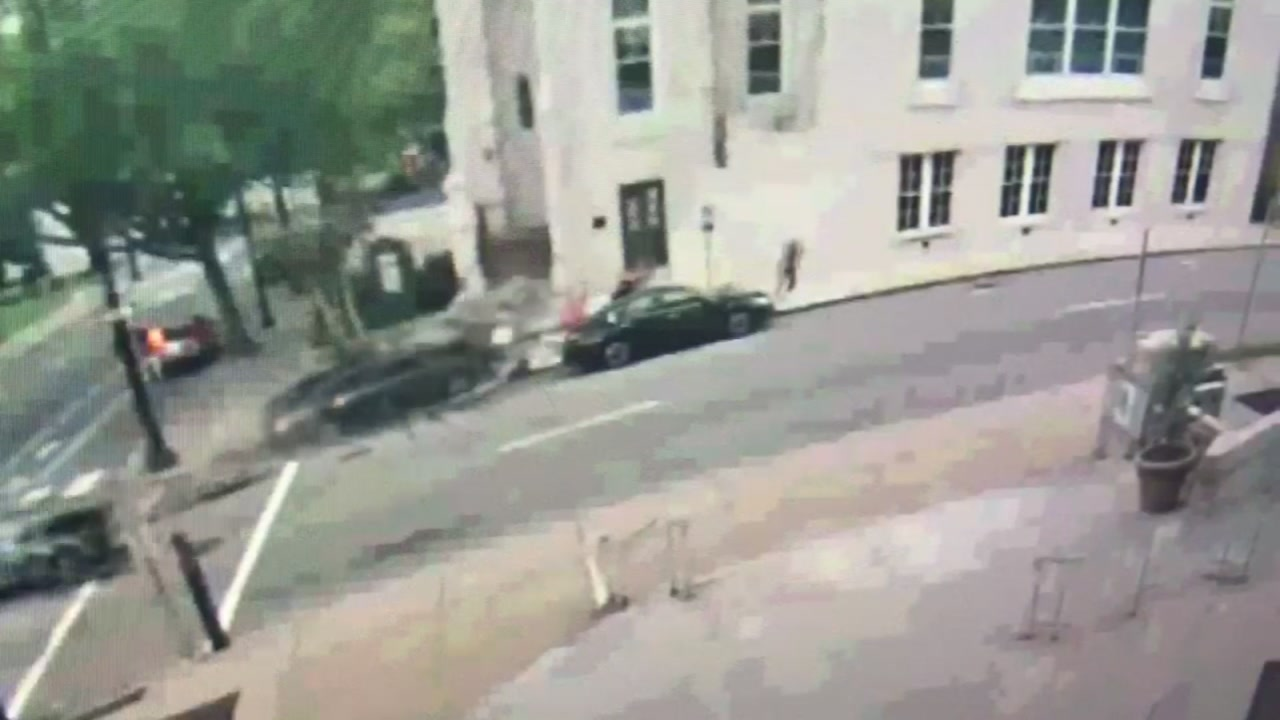Surveillance video shows car hitting pedestrians in Raleigh