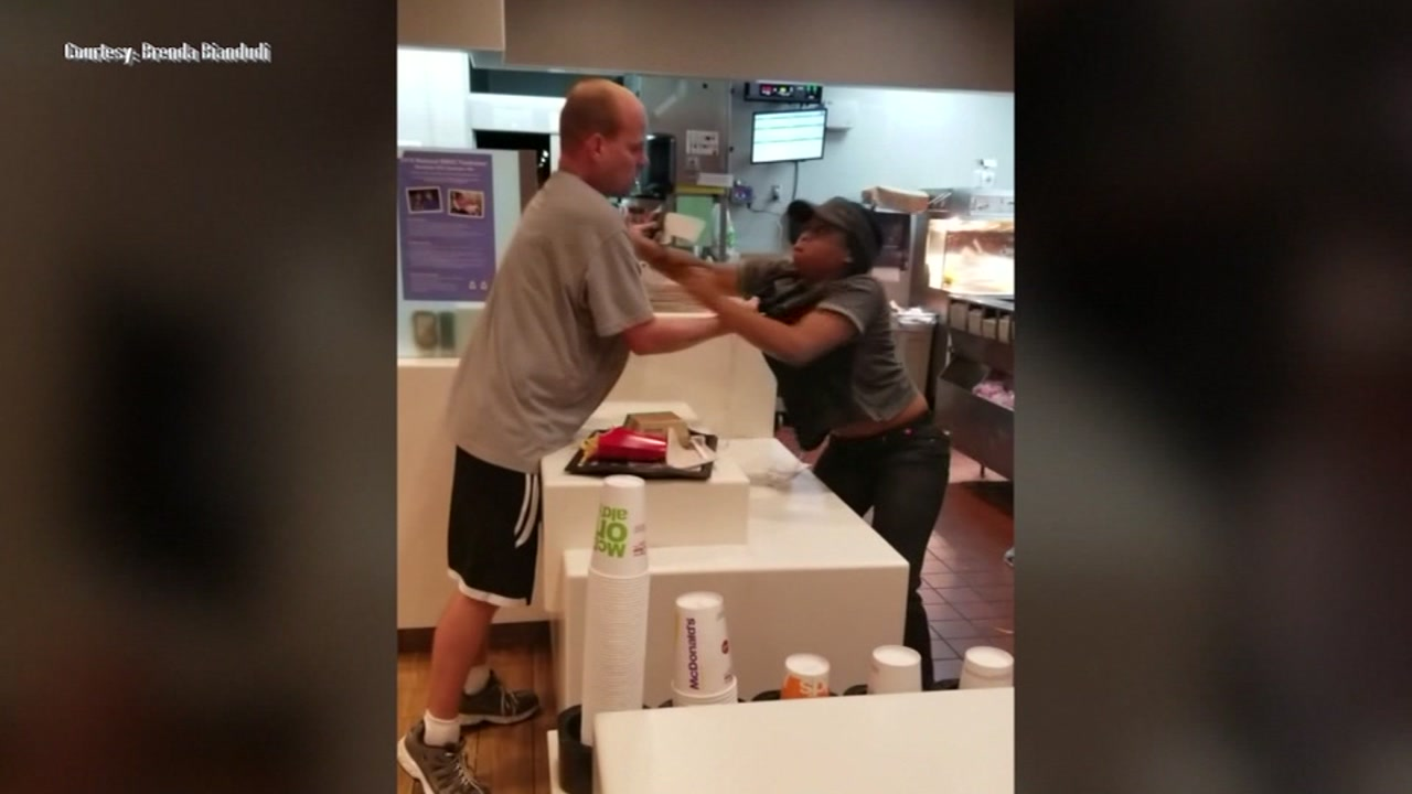 A man was arrested after assaulting an employee at a Florida McDonalds.